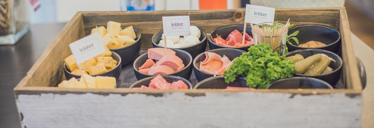 Ontdekkingsplank van Oost-Vlaamse kazen en vlees