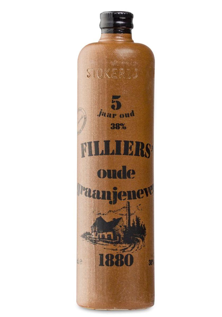 Foto Filliers oude graanjenever O'de Flander kruikje
