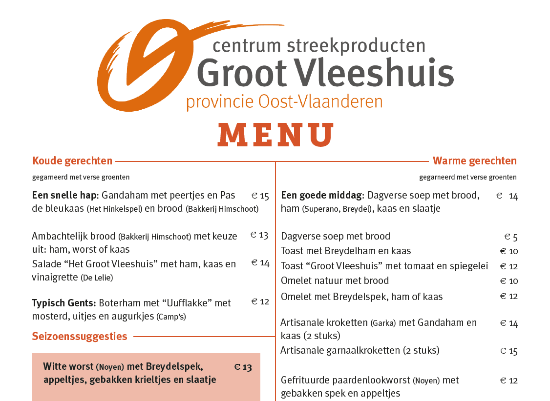 afbeelding nederlands menu